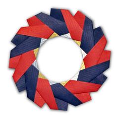 Origami Celtic Brooch (Jos Meeusen) (EZ Origami) Tags: origami celtic brooch ring wreath holiday decoration modular units kraft paper paperart