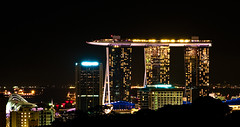 Queen Of The Night (TablinumCarlson) Tags: singapur singapore lion city garden red dot skyline marina bay asien asia far east leica m8 m summicron republic    straits johor sands hotel singapura architektur night nacht langzeitbelichtung landmark 90mm crop ausschnitt