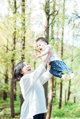 CC  (UnWoods) Tags: child mother father family portrait unwoods forest joy joyful happy happiness sunlight nature lovely