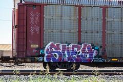 (o texano) Tags: houston texas graffiti trains freights bench benching suey sumoe dts d30 mf wge defthreats