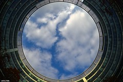 Warsaw Stargate (k#OCZY#k) Tags: sky stargate warsaw poland architecture ring circle clouds city