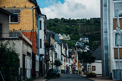 Neighborhood. (achterbahnmdchen) Tags: city street road streets houses house roof roofs windows cars trees vineyards weinberge nature sky blue grey white clouds oberwesel rhinelandpalatinate rheinlandpfalz germany deutschland europe europa achterbahnmdchen colors colours
