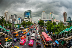 Calm Before The Storm (Gerald Ow) Tags: bangkok thailand cloud storm canon eos 5dmkii 5dmk2 geraldow sigma 15mm f28 fisheye traffic jam