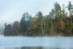 Morning Mist on Dewey Lake (jmhutnik) Tags: jennywileyresortstatepark kentucky prestonsburg water lake mist morning fog trees autumn fall sky