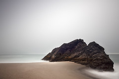 These Days When Even Rocks Relax (panfot_O (Bernd Walz)) Tags: beach rock sea seascape water waterscape landscape coast coastline shore pacific oregon ocean longexposure color calm contemplation silence