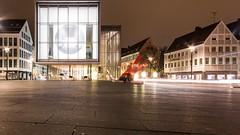 (vrevolo) Tags: ulm urban architecture modern building germany willikens night canon white 2016 square