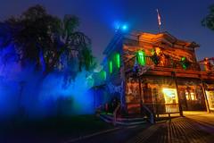 Frightful Fog Alley - EXPLORE (Matt Valeriote) Tags: hdr knottsberryfarm knottsscaryfarm halloween scary spooky creepy ghosts ghosttown fog night holiday