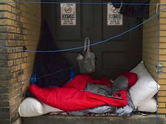 Doors May Open at Any Time (geowelch) Tags: toronto downtown urbanfragments urbandecay homelessness panasoniclumixgx1 panasoniclumixgvario1232mm3556