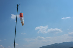 manica a vento (Clay Bass) Tags: 27mm saluzzo clouds fuji jpg natural sky windsock xm1