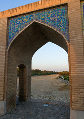Khaju bridge pol-e khaju over dry zayandeh river, Isfahan province, Isfahan, Iran (Eric Lafforgue) Tags: 0people ancient arches architectural architecture attraction bricks bridge building city colorimage cultural day dried esfahan hispahan iran iranian isfahan ispahan khajubridge landmark middleeast nopeople nobody orient outdoors persia photography river sepahan shahabbas spadana stone stony tourism touristic traveldestinations unescoworldheritagesite urban vertical zayandeh isfahanprovince