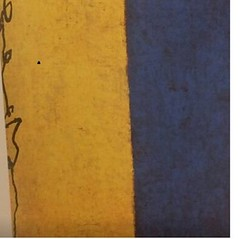 Hong Zhu An - Yellow and Blue (Ode To Art) Tags: blue yellow calligraphy ink strokes tradition new contemporary art painting paper east west chinese hongzhuan