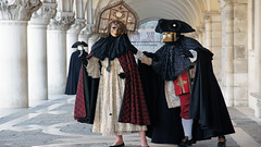 Venice Carnival (photosauraus rex) Tags: venicecarnival venice carnival italy veniceitaly costumes bauta casanovasmask masks morettamask venetianmorettamask theintrigueofsilence