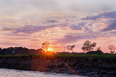 Love with Dusk (MH Photograaphy) Tags: lovewithdusk bisanakandi sylhet bangladesh outdoor boating sunset sky beautifulsun flare water river tour travel tree shade cloudy ngc nikond3200 landscape sunny tent hut