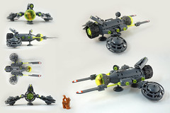 Fluffy Viper views (TFDesigns!) Tags: lego space spaceship fluffy cat viper nnovvember starfighter