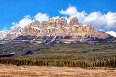 Castle Mountain, Banff National Park, Alberta, Canada - p1411 (photos by Bob V) Tags: mountains rockies rockymountains canadianrockies banff banffpark banffnationalpark banffalberta banffalbertacanada castlemountain mount eisenhoeur