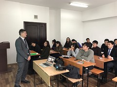 "Lectures delivering on December 5th 2016 on Al Farabi Kazakh National University, Almaty (1) <a style=""margin-left:10px; font-size:0.8em;"" href=""https://www.flickr.com/photos/89847229@N08/31323929441/"" target=""_blank"">@flickr</a>"