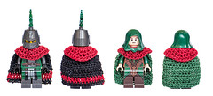 Custom Cloaks Front and back view (Milan Sekiz) Tags: lego castle medieval custom cloak minifigs