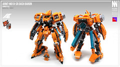 ARMT-M01X-SR Dash Baron (Messymaru) Tags: lego moc mech mecha robot    mechwars reframe original messymaru