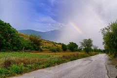 Colors through the rain (Mario Ottaviani Photography) Tags: sony sonyalpha italy italia paesaggio landscape travel adventure nature scenic exploration view vista breathtaking tranquil tranquility serene serenity calm colori rain haze strada road
