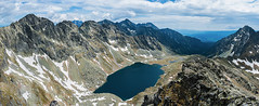 Velke Hincovo pleso (Zbojniiik) Tags: blue panorama mountain lake snow water rock 35mm high cloudy deep valley slovakia biggest tatry tatras partly vysoke pleso velke hincovo