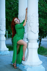 Toma, long green dress (Kostya Romantikov) Tags: moscow russia russian girl woman lady redhead green dress greendress longdress heels straight straightlegs jambes beine piernas gambe slenderlegs piernasesbeltas gambesnelli schlankebeine picioarelesubțiri incebacaklar ohutjalat jambesélastiques beautifullady beautifulgirl beautifulwoman hotlady hotgirl hotwoman beautifullegs perfectlegs sexylegs ножки