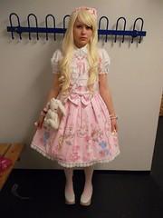 Brolita (shellyanatine) Tags: pink dress crossdressing sissy petticoat frilly