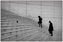 Paris, La Defense Grand Arche 2012 (hp chavaz) Tags: paris street urban xpro1 p silhouette selection ladefense woman xf35mm 500 fuji fujifilm france 92 bestcapturesaoi elitegalleryaoi fav50 100v10f fav75 fav25p unexplored 2013 persons rp prime primelens streetphotography bw blackwhite blackandwhite fb onlyshadesofgray fbseriousstreetphotographers seriousstreetphotographers hcspfr culturephoto spbwcollection xf35mm14 fav10