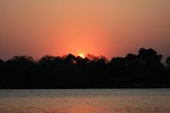 Sunset (Riccy Wings) Tags: africa sunset holiday canon river landscape tamron zambia zambezi 18200mm 400d