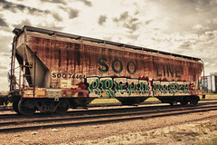 BREAD AND ROSES (The Braindead) Tags: roses art minnesota train bench bread photography graffiti painted labor tracks minneapolis rail explore lincoln strike beyond alb abe amfm brigade the d2f