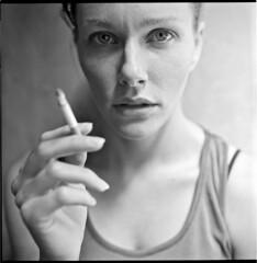 Alx (Braca Nadezdic) Tags: portrait blackandwhite bw analog rolleiflex portraits kodak tmax400 rollfilm