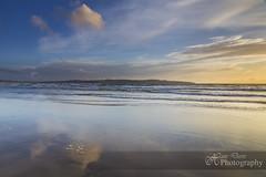 Gone to the Beach (Sadloafer) Tags: uk sunset sea sky cloud reflection beach rock horizontal outdoors photography sand wideangle nopeople dramaticsky tidepool scenics gwithian tranquilscene traveldestinations beautyinnature cornwallengland colourimage horizonoverwater sadloafer hansdavisphotography