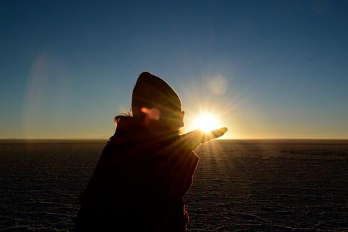 Amanecer en Salar de Uyuni