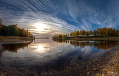 Linnunlahti (>>Marko<<) Tags: lake reflection fall nature water canon suomi finland landscape maisema joensuu syksy luonto ranta jrvi heijastus pyhselk linnunlahti valokuvaus platinumheartaward vision:mountain=059 vision:beach=060 vision:sunset=086