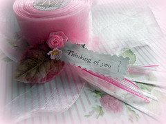 Sweet embellishment (AllThingsPretty...) Tags: pink roses breastcancer rosettes fabricroses handmaderosettesinshadesofpink madeforswappartnerevelynfortherosesofcourageswapimhostingatanalteredpapergroup