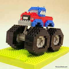 nanoblock Monster Truck (inanoblock) Tags: monster truck toy toys lego bricks vehicle blocks build buildingblocks nanoblock  nanoblocks