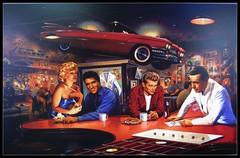 Evening at Rick's (Bob the Real Deal) Tags: cafe marilynmonroe elvis diner burgers fresno diners jamesdean humphreybogart burgerjoint rickscafe canonsd850 triangledrivein triangleburgers eveningatricks