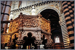 Chaire de vrit, de Nicola Pisano, Duomo Santa Maria Assunta, Siena (claude lina) Tags: italy tuscany siena toscane italie sienne