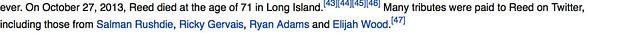 Lou Reeds Modernist Obit.