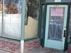 God Bless America, Anaconda, MT (Robby Virus) Tags: abandoned america store montana closed god flag business american anaconda storefront bless
