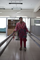 Forida Akhtar is 25 years old and has travelled to CCD from Chittagong in the south of Bangladesh to receive physiotherapy for her legs which were affected by polio at a young age.