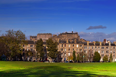Bruntsfield Links & Edinburgh Castle (Colin Myers Photography) Tags: autumn castle colin photography scotland edinburgh edinburghcastle meadows scottish sunny myers themeadows bruntsfield bruntsfieldlinks edinburghphotography colinmyersphotography