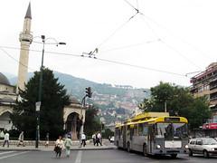 12-09-07 Sarajevo Skenderija Krzg Obus 4128 (tramfan239) Tags: sarajevo trolleybus solingen obus skenderija