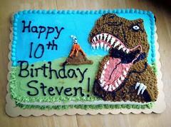 Dinoaur Cake by Glenna, Triad Area, NC, www.birthdaycakes4free.com