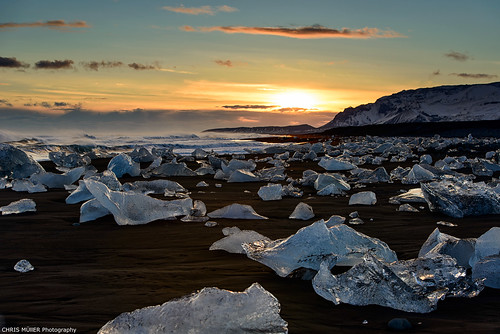 sunset Jokulsarlon