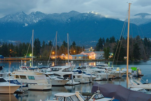 Grouse Mountain from the Coal Harbour Marina