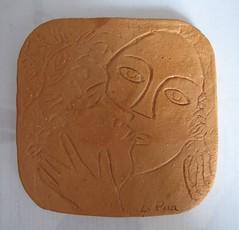 piastrella stile chagall_tecnica ceramica