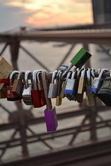 Love Locks (kelliejane) Tags: nyc newyorkcity travel vacation holiday newyork love lock romance brooklynbridge lovelock kelliejane