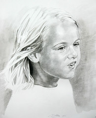 Portret Famke de Boer (mark.algra) Tags: portret papier potlood getekend