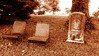 two or three (LauraSorrells) Tags: two cemetery grave sepia three chairs kentucky gravestone stillness emptiness absence gethsemani