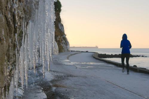 Frozen Seawall